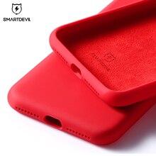 Smartdevil電話ケースiphone 12プロマックス11 7 8プラスxr x xs SE2020無地シリコーンカップルかわいいキャンディーカラーソフトシンプルな