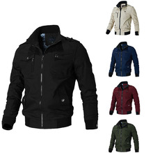 FALIZA Military Jacket Army Mens Spring Autumn Cotton Bomber Jackets Windbreaker Pilot Coat Cargo Flight Jacket Male Clothes