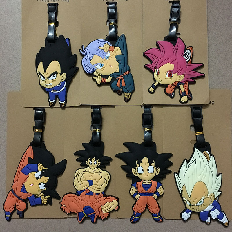 Anime Dragon Ball Son Goku Saiya Luggage Tags Bag Travel Accessories