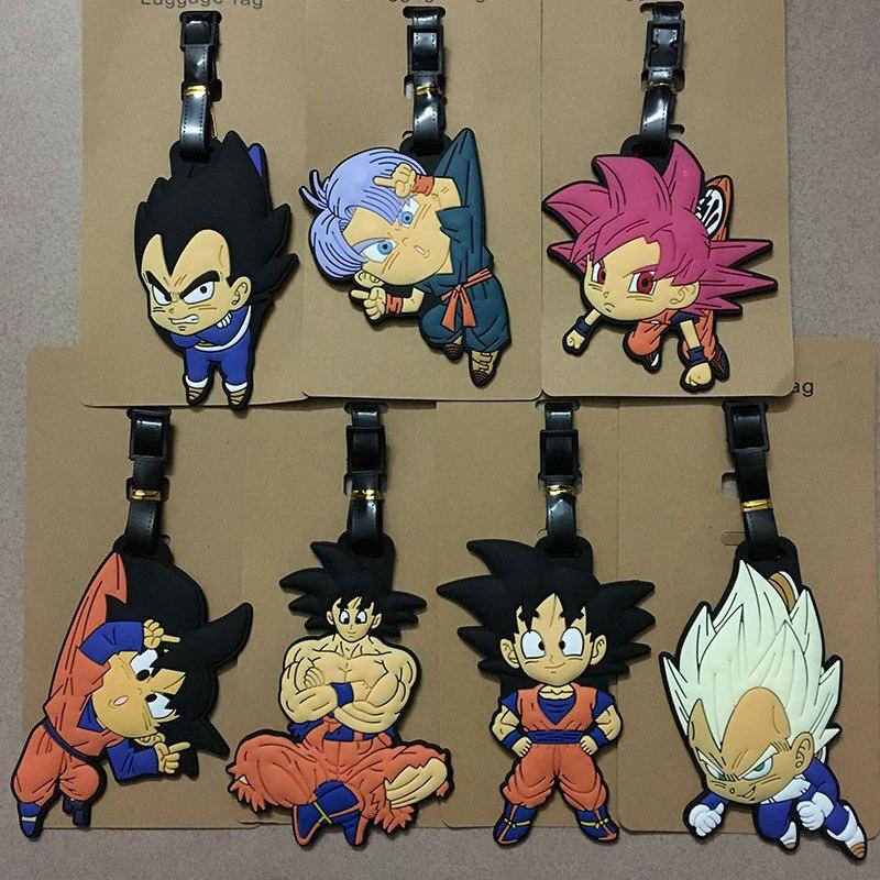 Anime Dragon Ball Son Goku Saiya Luggage Tags Bag Travel Accessories