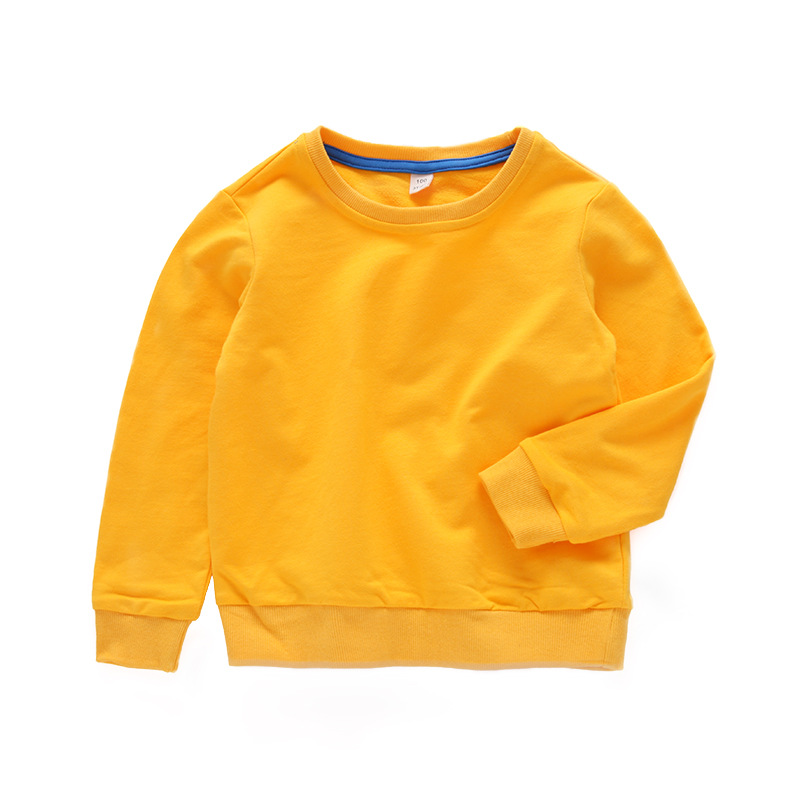 Hoodies Sweatshirts Toddler Girl Baby White Boys Kids Children Pullover Autumn Solid-Color