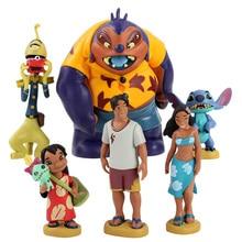 6 unids/lote Lilo y Stitch figura de juguete Scrump Lilo Nani Pelekai Pleakley Jumba modelo Jookiba muñecas niños regalos