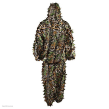 Durable Woodland Kit Cloak Military 3D Leaf Camouflage Camo Jungle Hunting Birding