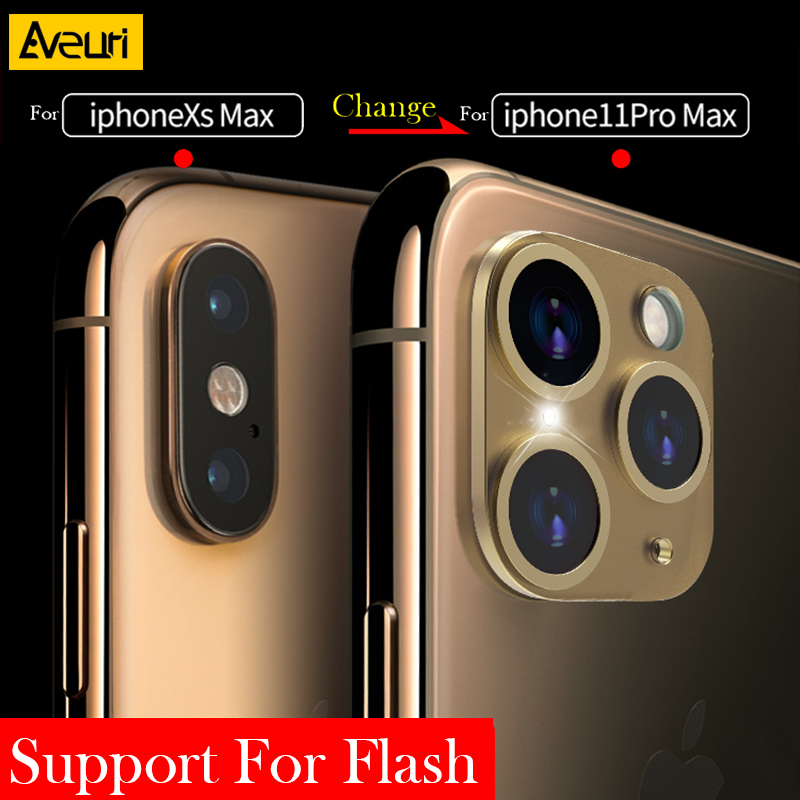 Luxury Sticker Camera Lens Seconds Change For IPhone 11 Pro Max Glass Protector Cover For IPhone X XS MAX Sticker Fake Camera