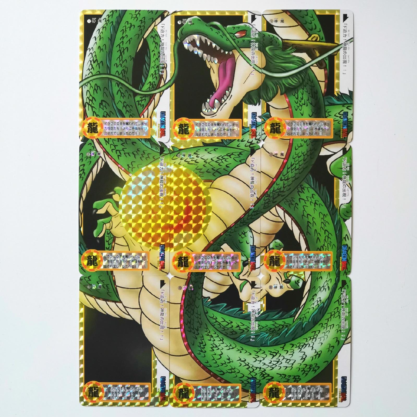 9pcs/set Shenron 9 In 1 Super Dragon Ball Z Heroes Battle Card Ultra Instinct Goku Vegeta Game Collection Cards