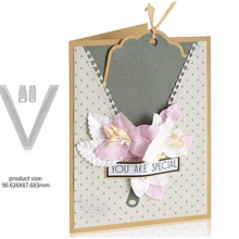New Design Craft Metal Cutting Dies cut dies tag bookmark decoration scrapbook Album Paper Card Craft Embossing die cuts