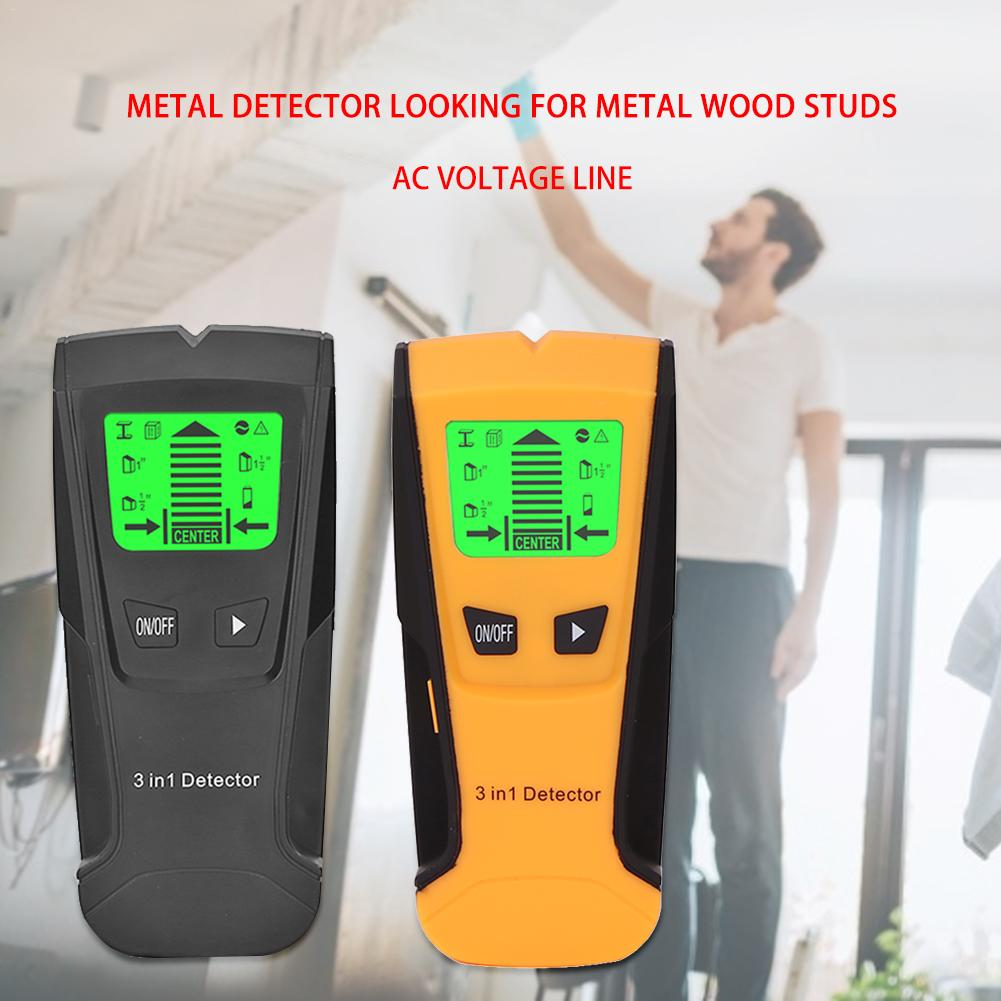 Metal Detector Find Wooden Studs AC Voltage Live Wire Detect Wall Scanner