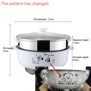 Image 2 - 220V Multifunctional Electric Cooker Heating Pan Electric Cooking Pot Machine Hotpot Noodles Rice Eggs Soup Steamer Cooking Pot