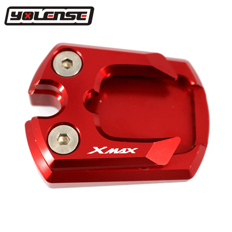 CNC Aluminum Motorcycle Kickstand Enlarge Plate Pad Side Stand Enlarger Motorbike For YAMAHA X MAX 300 XMAX300 XMAX 2017 2018|Stands| |  - title=