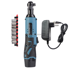 12V rechargeable battery cordless ratchet wrench with one battery