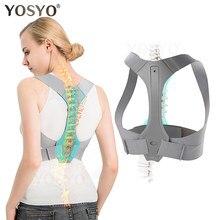 Yosyo posture corrector para homem e mulher cinta de postura superior ajustável para suporte, proporcionando dor de alívio do ombro-pescoço-costas