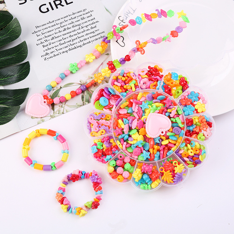 Solid Color Colorful Beads Bead Toy Children Play House Toys Bead Accessories Sunfar Kuan