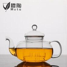 Tea-Pot Bottle Infuser Flower-Teacup Heat-Resistant High-Quality Herbal-Coffee Glass