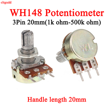 1x Stereo dual axis amplifier 3pin 20mm dual potentiometer, wh148 b2k b5k b10k b20k b50k b100k b500k 1k 2k 5k 10k 50k 100k 500k image