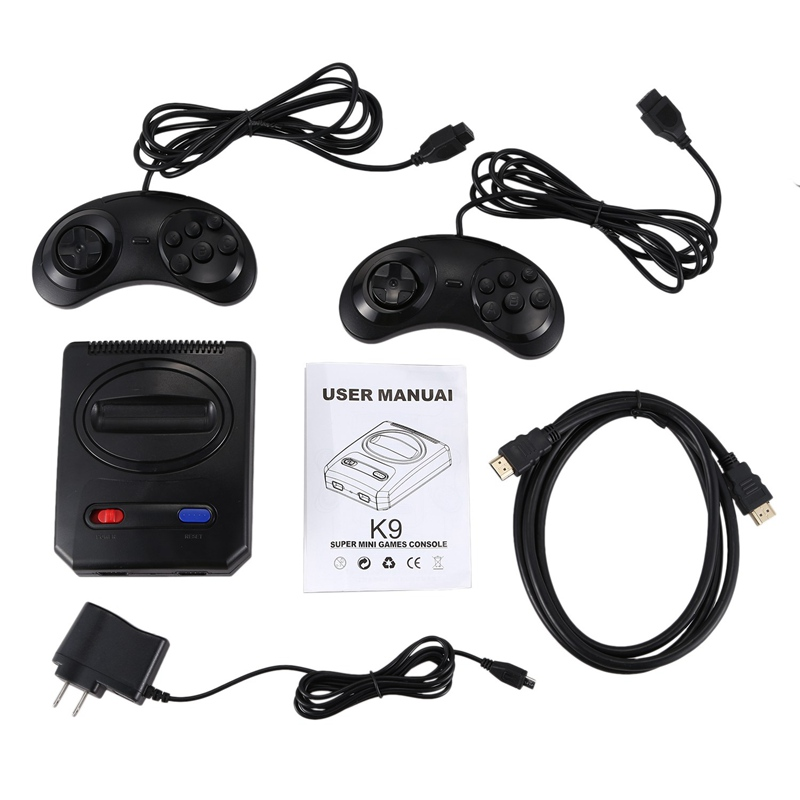 Powkiddy Hd Hdmi 16 Bit Retro Classic Console Video Game For Sega Console Pal Ntsc Support Extra Cartridges Available 4K Tv Us P in App Controlled Toys from Toys Hobbies