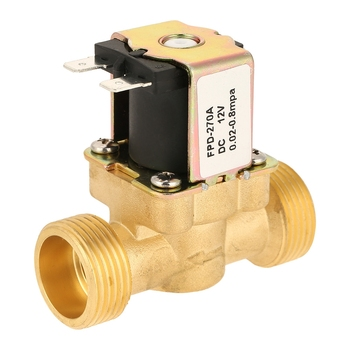 DC12V G3/4 Normal Closed Brass Electric Solenoid Valve For Water 0.02MPa-0.8MPa Water Pressure 100,000 Times Lifespan household tap water pressure reducing valve regulator valve water heater water purifier constant pressure valve brass thickening