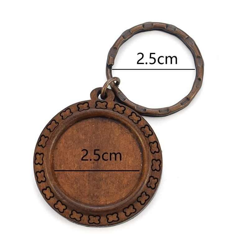 Porte-clés en cuir/bois/argent porte-clés queue de fée Logo de guilde Cabochon en verre porte-clés lumineux cadeau pour Anime porte-clés
