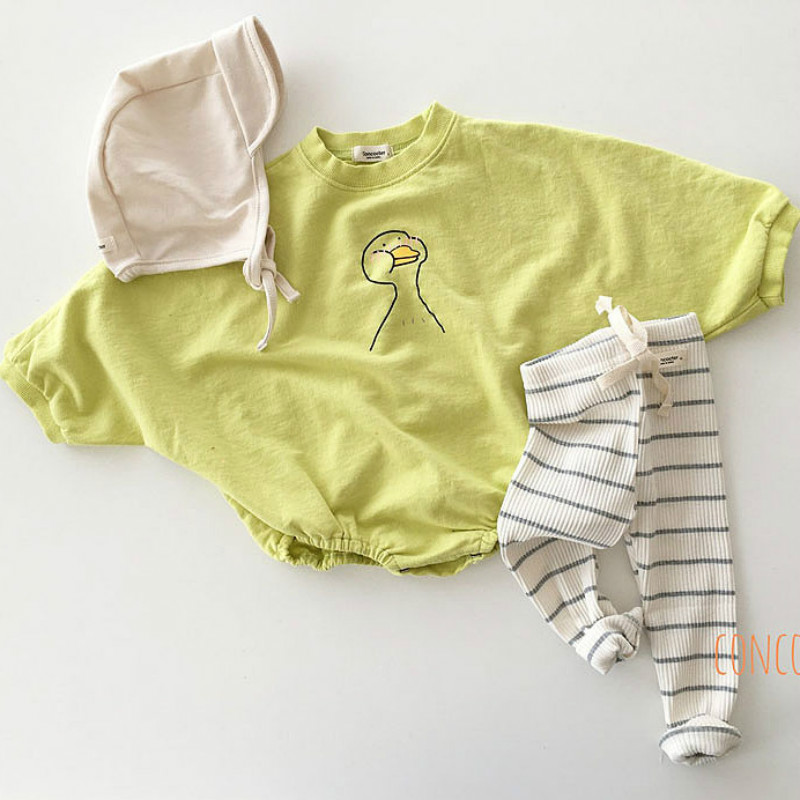 Baby Cotton Bodysuit Loose Creeper Simple Baby Bodysuit Newborn Baby Girl Clothes