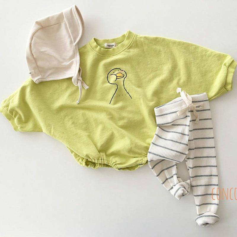 Baby Cotton Bodysuit Loose Creeper Simple Baby Bodysuit Newborn Baby Girl Clothes