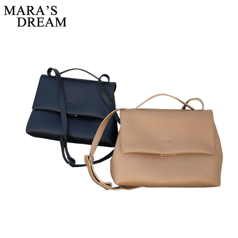 Mara's Dream 2019 New Solid Color Simple Versatile Belt Decoration Large Capacity Female Shoulder Messenger Bag Handbag