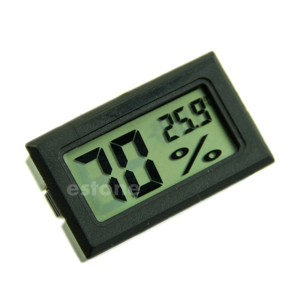 Hygrometer Thermometer Digital LCD Temperature Humidity Meter 10%~99%RH 50JF
