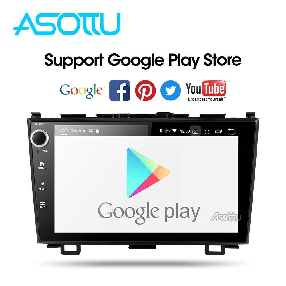 Asottu أندرويد 9.0 PX30 مشغل أسطوانات للسيارة لتحديد المواقع لاعب لهوندا CRV 2006-2011 مع راديو السيارة مشغل فيديو لتحديد المواقع والملاحة سيارة ستيريو 2 الدين