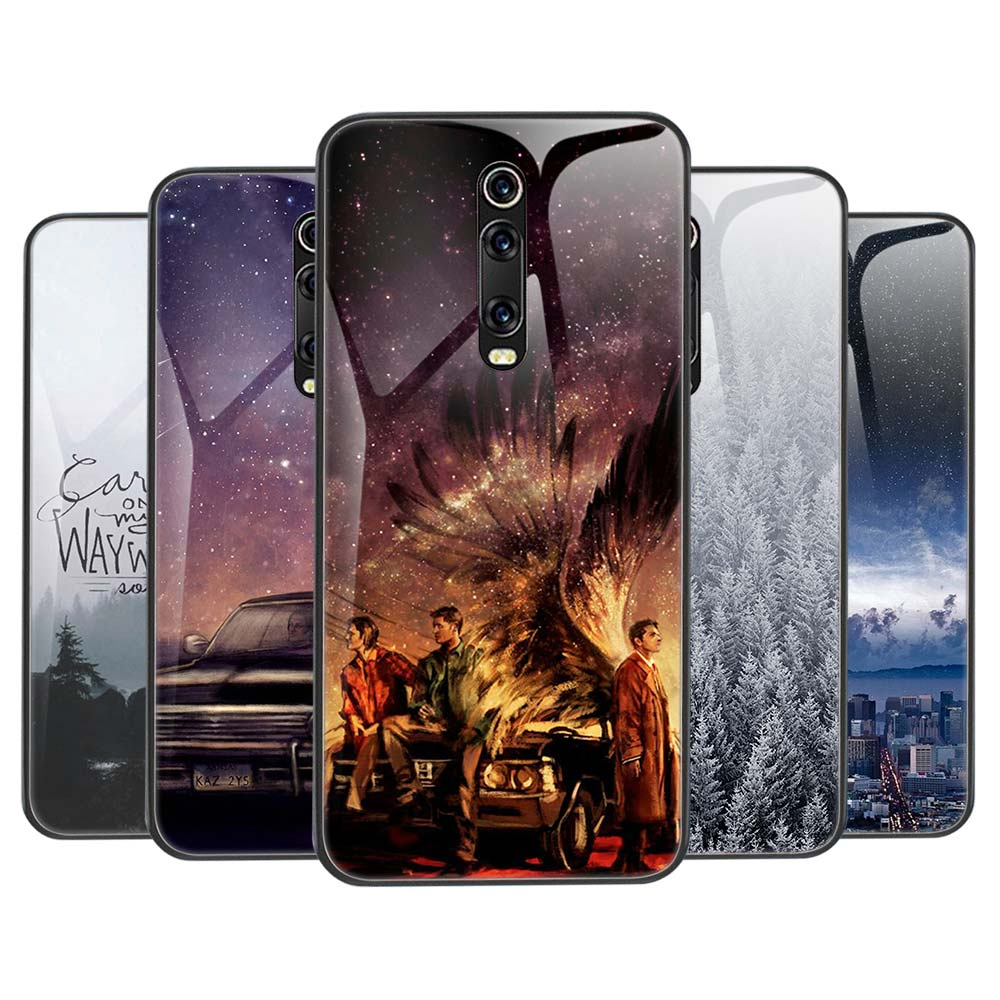 Tempered Glass Case for Xiaomi MI CC9 CC9E Note 10 Pro 8 Lite Redmi Note 8T 6 7 8 Pro Cover Supernatural Jared Padalecki image
