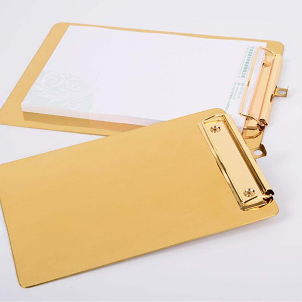 Writing Pad Stainless Steel Menu Folder Data Board Restaurant Order Single Plywood File Folder Multifunctional A4 Board Clip