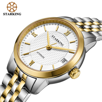 STARKING Fashion Watches Women Vintage Leather Luxury Watch Ladies Stainless Steel Automatic Women Wrist Watches 5ATM Waterproof