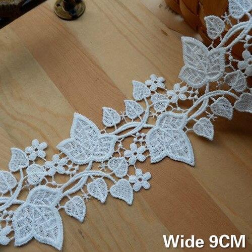 White MagiDeal 3 Yard 10cm Wide Eyelash Lace Trim DIY Sewing Applique