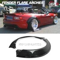Mx5 nc rallybacker frp fibra de vidro arco da roda traseira (par de arcos traseiros apenas) para mazda fiberglass roda alargamento