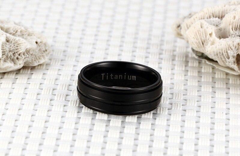 Stylish Black Titanium Carbide Ring for Men