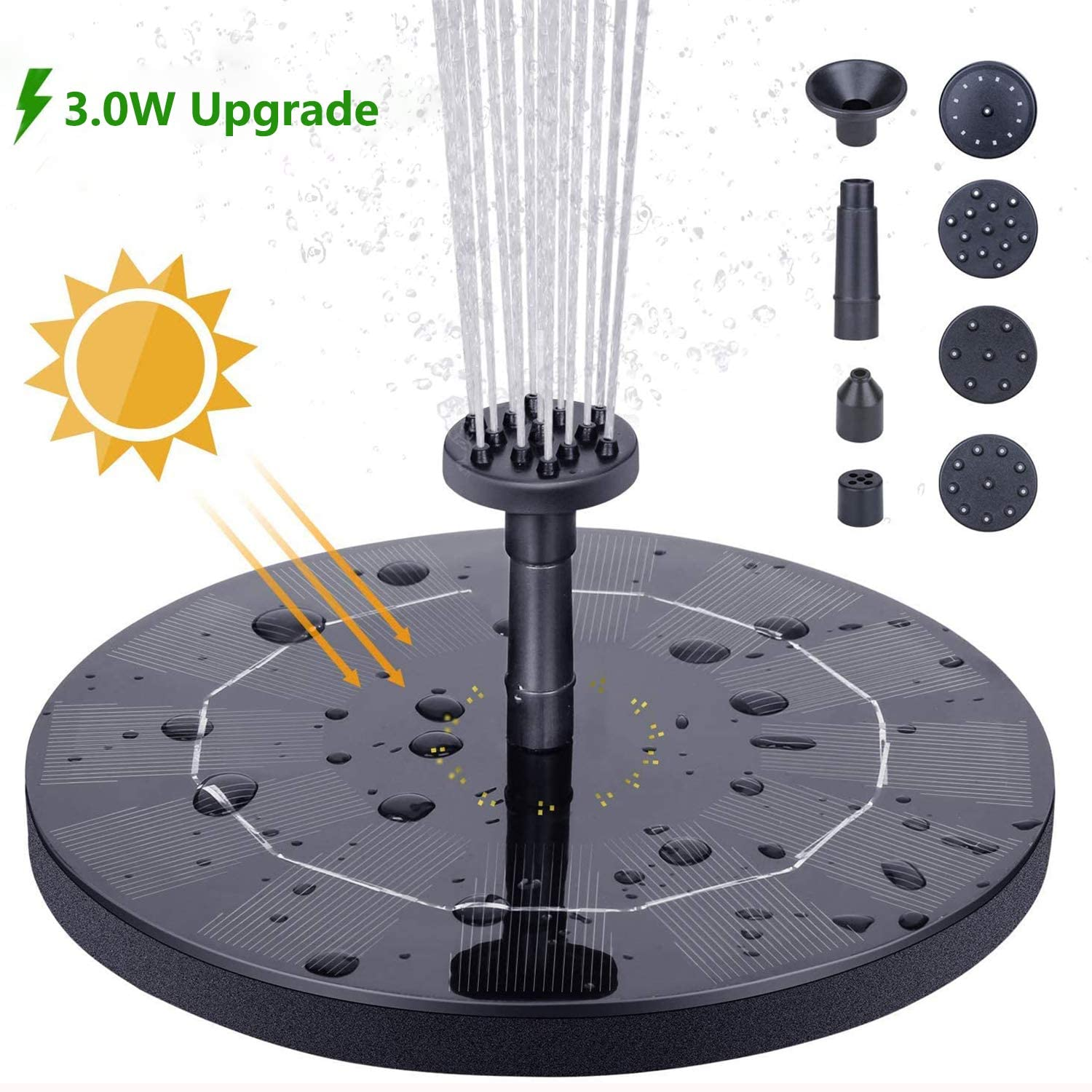 16CM New Solar Floating Fountain With battery  Bird Fountain Water Floating Fountain Pond Garden Patio Decor Lawn Decoration