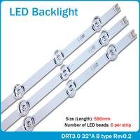Новая 590 мм Светодиодная подсветка 6 ламп для LG innotek drt 3,0 32
