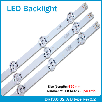 NEW 590mm LED backlight 6 lamps for LG innotek drt 3.0 32_A/B 6916l-1974A 1975A 32MB25VQ lv320DUE 32LF5800 SUNG WEI 55VO