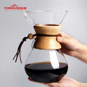 Image 5 - 600ml/800ml Heat Resistant Glass Coffee Pot Coffee Brewer Cups Counted Coffee Maker Barista Percolator