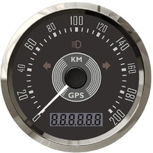 Odometer 85mm Auto with Red And Yellow Adjustable Backlight 12V 24V 200km/H 150MPH
