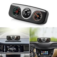 2019 New Stylish Car Vehicle Navigation Ball Compass Thermometer Hygrometer Interior Access