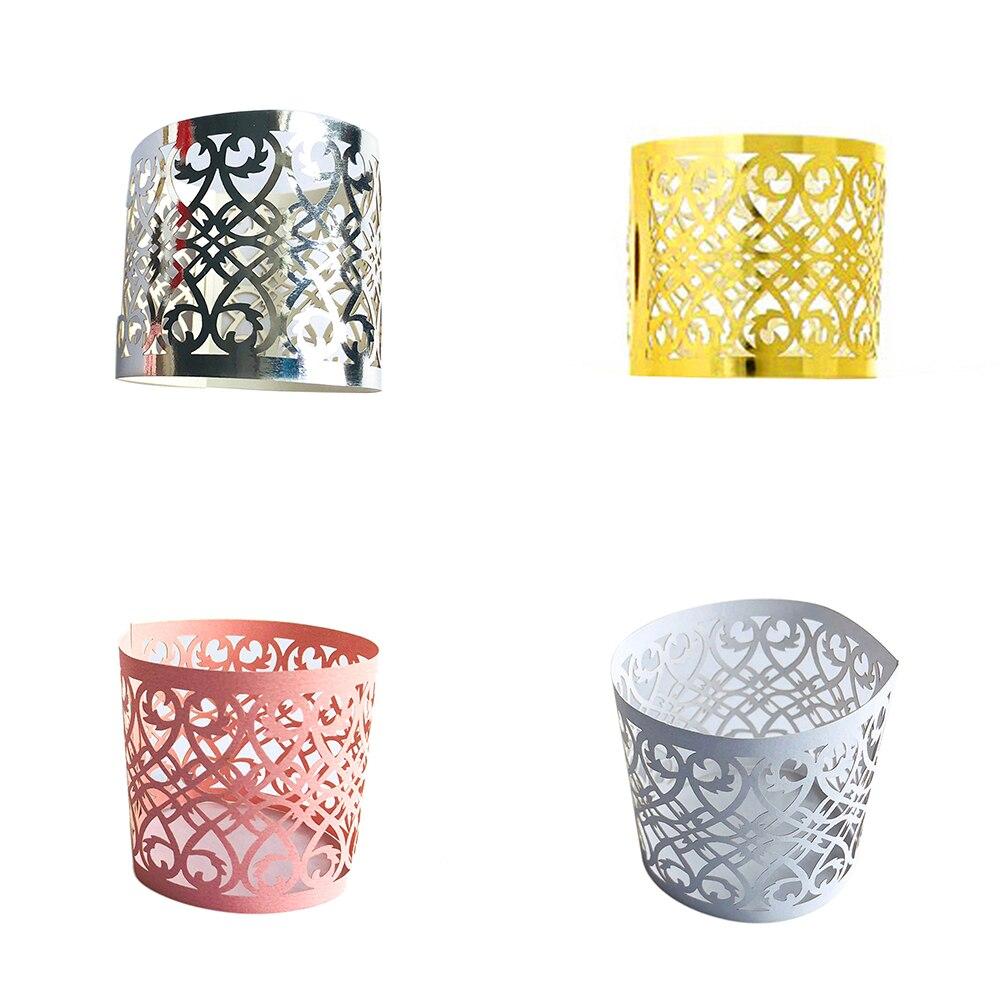 50 pcs//set Table Napkin Buckle Napkin Paper Rings Holder Decoration Supplies