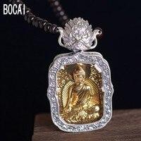 New S925 silver pendant for Women vintage sandalwood chain Thai silver Sakyamuni Dapeng bird pendant man's pendant