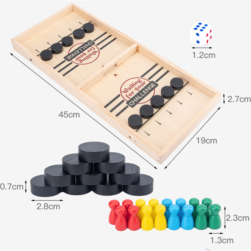 Fast Sling Puck Game Desktop Board Games For Adults Children's Board Games Table Desktop Battle 2 In 1 Catapult Chess Bumper