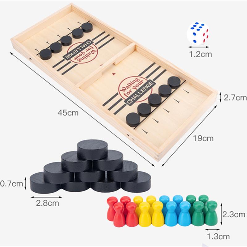 Fast Sling Puck Game Desktop Board Games For Adults Children's Board Games Table Desktop Battle 2 In 1 Catapult Chess Bumper