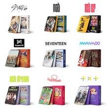 54pcs/set Kpop Stray kids UNLOCK Lomo Cards TXT TWICE NCT 2020 NCT 127 Dream TXT Red velvet SuperM Straykids photo Album cards