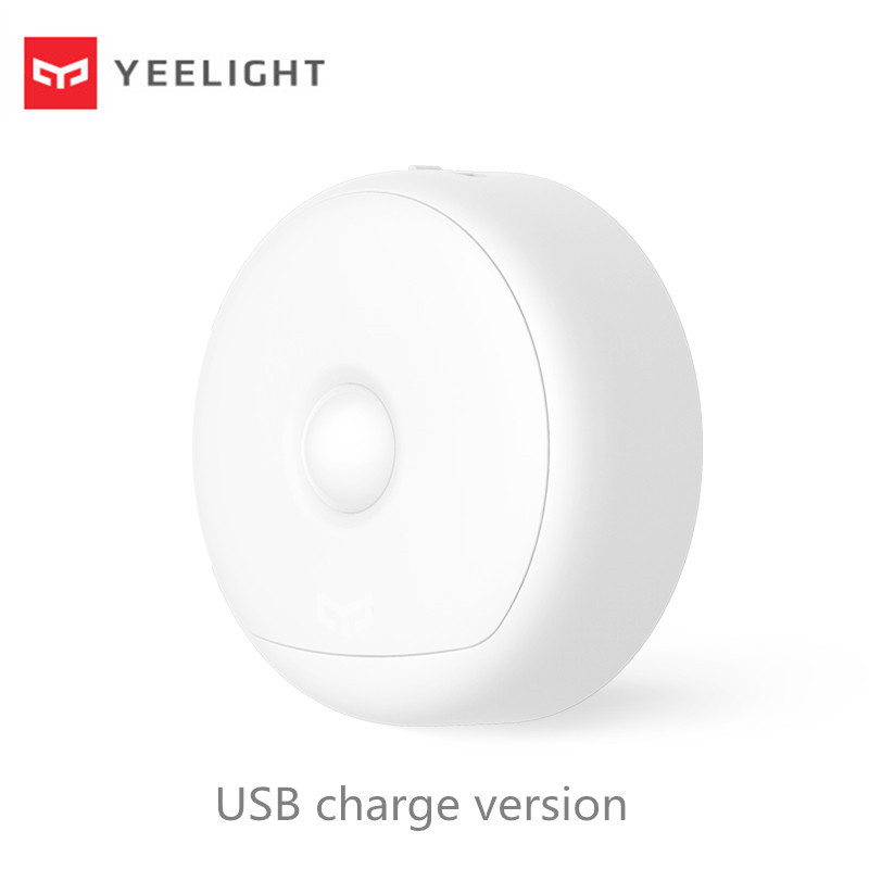 USB ReCharge   Yeelight LED Night Light Infrared Magnetic with hooks remote Body Motion Sensor For Smart Home