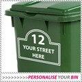 3 х большая Корзина WHEELIE индивидуальная Наклейка номер дома и название улицы адрес наклейка