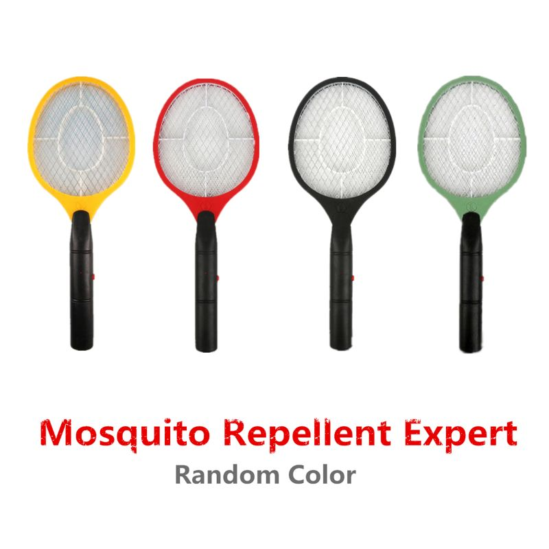 Electric Fly Swatter Handheld Electronic Swat Bug Mosquito Insect Wasp Zapper Killer U50F