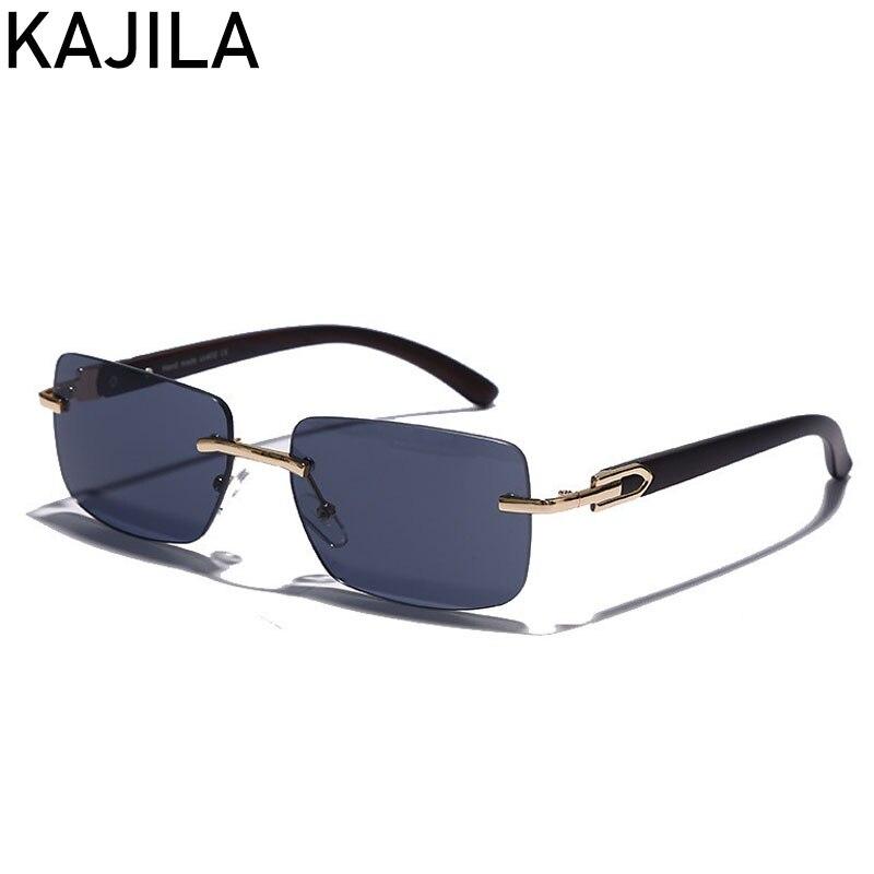 Rectangle sans monture lunettes De soleil hommes 2020 nouvelle mode carré lunettes De soleil pour homme De luxe marque Vintage lunettes De soleil homme Gafas De Sol