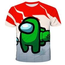 2021 летние 3D Детские футболки с рисунками из мультфильмов у нас игры модный тонкий и застежкой-молнией на спине, с круглым вырезом От 4 до 14 ле...