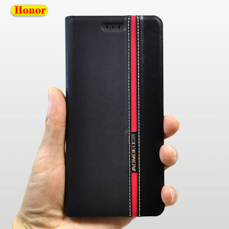 Leather Wallet <font><b>Case</b></font> Cover For Huawei <font><b>Honor</b></font> 9 Lite 9n 20i 10i 10 9X <font><b>8X</b></font> 8 8A 8C 7X 7S 7A 7C Pro 6X View 20 Play 3 Card Flip <font><b>Cases</b></font> image
