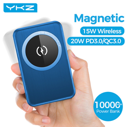 YKZ 15W Wireless Charger Power Bank 10000mAh Ultra-thin PD Fast Charging MagSafe Magnet Mini Powerbank for iPhone 12pro Max Mini